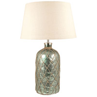 Pescator 25 inch Antique Azure Artifact and Sandstone Table Lamp Portable Light, Large