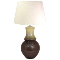 Cavalier 27 inch Heritage and Sandstone Table Lamp Portable Light, Large