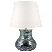 Ambia 23 inch Aqua Shimmer and Parchment Table Lamp Portable Light, Large