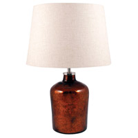 Oliver 20 inch Antique Caramel and Sandstone Table Lamp Portable Light, Small