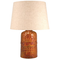 Burnham 20 inch Burned Copper and Sandstone Table Lamp Portable Light, Small