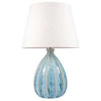 Ripples 22 inch Parchment and Seaspray Table Lamp Portable Light, Small