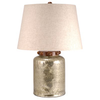 Calico 23 inch Antique Wheat and Brindle Copper Table Lamp Portable Light, Large