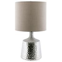 Pomeroy 981104 Pierce 22 inch 150 watt Hammered Aluminum/Sand Table Lamp Portable Light