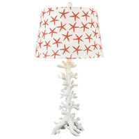 Reef 28 inch 150 watt Coral and White Table Lamp Portable Light