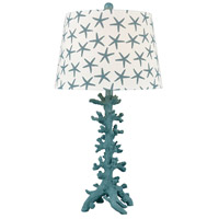 Reef 28 inch 150 watt Teal and White Table Lamp Portable Light