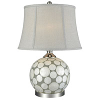Mako 23 inch 60 watt Chateau Grey and Silver Table Lamp Portable Light