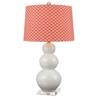 Ava 29 inch 150 watt Coral and Pearl Table Lamp Portable Light