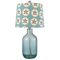 Pomeroy 981265 Delphin 25 inch 150 watt Smoked Azure and Teal Table Lamp Portable Light
