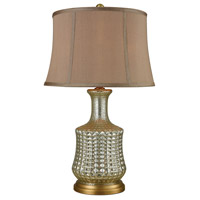 Pomeroy 981272 Nix 27 inch 150 watt Antique Silver and Smoked Pearl Table Lamp Portable Light