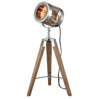 Pomeroy 981296 Studio 27 inch 40 watt Antique Maple and Silver Table Lamp Portable Light Small