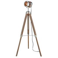 Pomeroy 981302 Studio 55 inch 100 watt Antique Maple and Silver Floor Lamp Portable Light Large