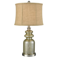 Pomeroy 981333 Calleva 26 inch 60 watt Antique Silver/Beige Table Lamp Portable Light
