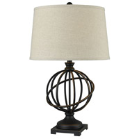 Pomeroy 981456 Bosworth 27 inch 100 watt Madison Bronze/Oatmeal Table Lamp Portable Light