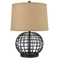 Pomeroy 981470 Orbison 24 inch Black and Burlap Table Lamp Portable Light