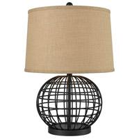 Pomeroy 981470 Orbison 24 inch 100 watt Black/Burlap Table Lamp Portable Light
