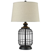 Chamberlin 27 inch Madison Bronze and Oatmeal Table Lamp Portable Light