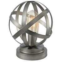 Pomeroy 981517 Lenwell 11 inch 40 watt Antique Silver Table Lamp Portable Light