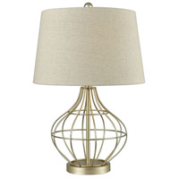 Pomeroy 981524 Vivian 24 inch Gold and Oatmeal Table Lamp Portable Light