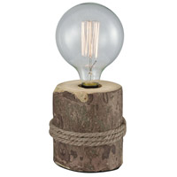 Pomeroy 981531 Beachfront 12 inch Clear and Natural Table Lamp Portable Light