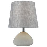 Pomeroy 981609 Daplin 13 inch 40 watt Cement/Graphite Table Lamp Portable Light