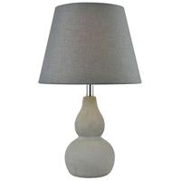 Pomeroy 981623 Vego 18 inch 60 watt Cement/Dove Table Lamp Portable Light