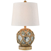Crosswick 20 inch 60 watt Azure with Natural Table Lamp Portable Light