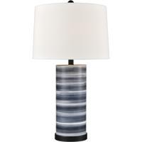 Pomeroy 981685 Santos 27 inch 100 watt Blue/Black Table Lamp Portable Light