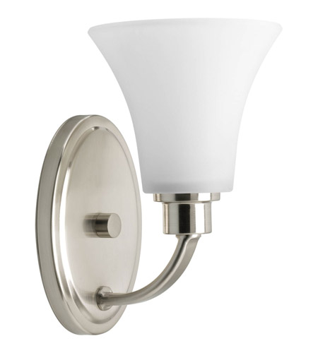 Progress P2000-09 Joy 1 Light 6 inch Brushed Nickel Bath Vanity Wall Light in Etched photo