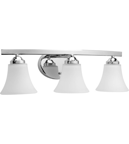 Progress P2010-15 Adorn 3 Light 22 inch Chrome Bath Vanity Wall Light in Etched photo