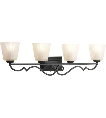Progress Lighting Thomasville Meeting Street 4 Light Bath Vanity in Forged Black P2025-80 photo