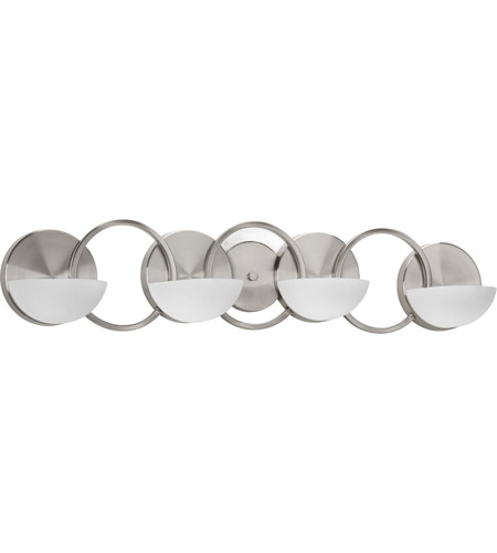 Progress P2036-09 Engage 4 Light 33 inch Brushed Nickel Bath Vanity Wall Light photo