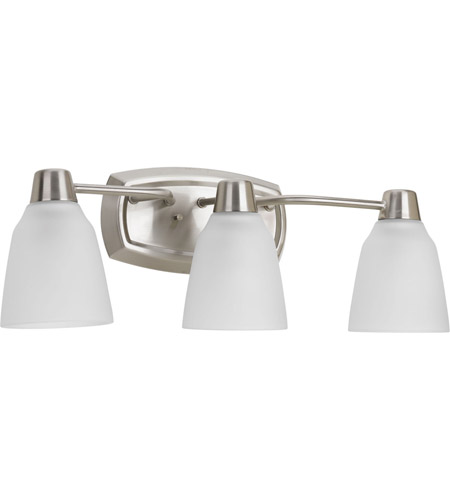 Progress P2067-09WB Asset 3 Light 23 inch Brushed Nickel Bath Vanity Wall Light in Bulbs Included photo