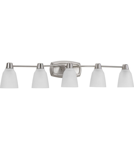 Progress P2069-09WB Asset 5 Light 41 inch Brushed Nickel Bath Vanity Wall Light in Bulbs Included photo