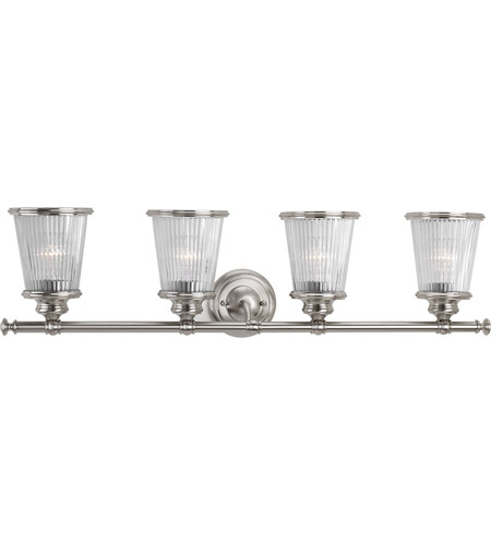 radiance 4 light 33 inch brushed nickel bath vanity wall light photo