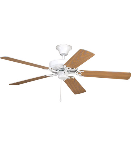 Progress p2501 30 airpro 52 inch white with whiteoak blades ceiling fan mozeypictures Images