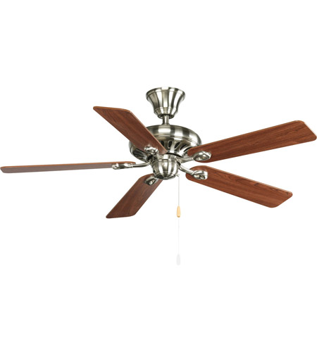 Progress P2521-09CH AirPro 52 inch Brushed Nickel with Cherry/Natural Cherry Blades Ceiling Fan photo