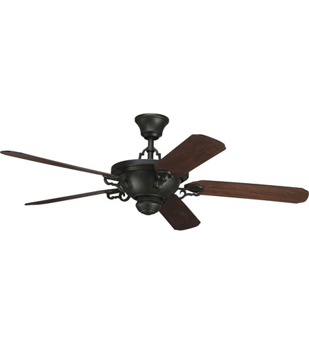 Progress Lighting Thomasville Meeting Street Ceiling Fan in Forged Black P2527-80 photo
