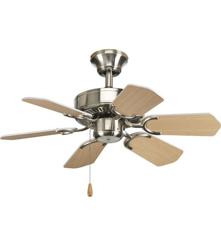 Progress P2529-09 AirPro 30 inch Brushed Nickel Ceiling Fan photo