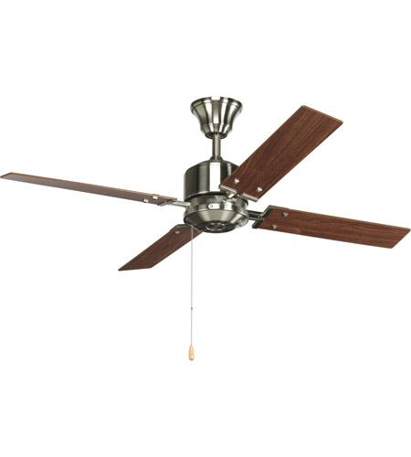 Progress P2531 09 North Park 52 Inch Brushed Nickel Ceiling Fan In  Cherry/Natural Cherry