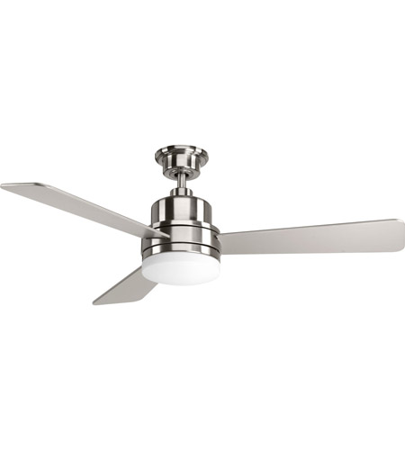 Progress p2538 09 trevina 52 inch brushed nickel with silver progress p2538 09 trevina 52 inch brushed nickel with silver blades ceiling fan mozeypictures Image collections