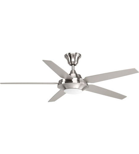 Signature Plus Ii 54 Inch Brushed Nickel With Driftwood Silver Blades Ceiling Fan