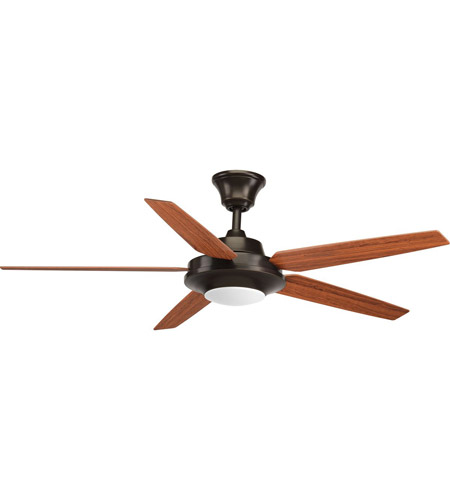 Progress P2539-2030K Signature Plus II 54 inch Antique Bronze with Walnut/Medium Cherry Blades Ceiling Fan photo thumbnail