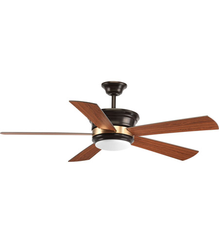 Progress P2540-2030K Harranvale 54 inch Antique Bronze with Walnut/Medium Cherry Blades Ceiling Fan photo thumbnail