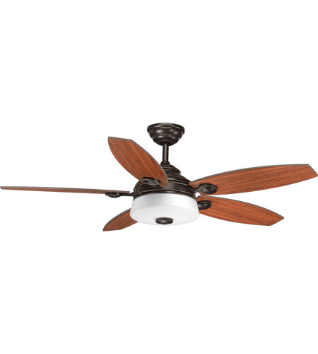 Progress P2544-2030K Graceful 54 inch Antique Bronze with American Walnut/Dark Teak Blades Ceiling Fan photo thumbnail