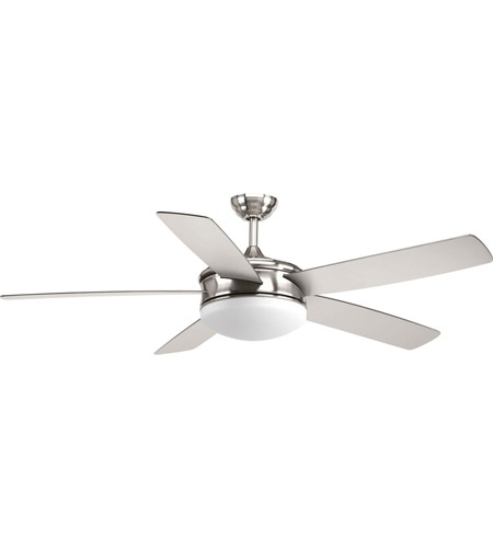 Progress P2548-0930K Fresno 60 inch Brushed Nickel with Silver/Black Blades Ceiling Fan photo thumbnail