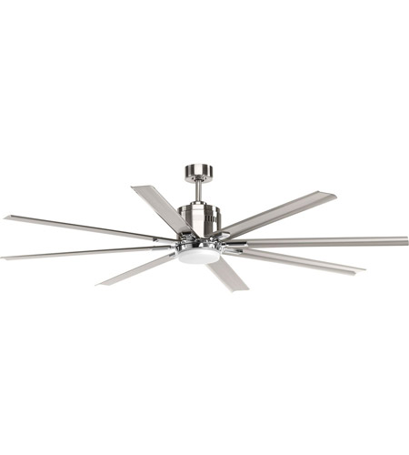Progress p2550 0930k vast 72 inch brushed nickel ceiling fan aloadofball Choice Image