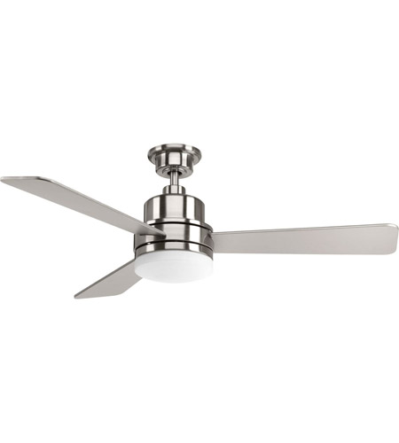 Trevina 52 Inch Brushed Nickel With Silver Blades Ceiling Fan