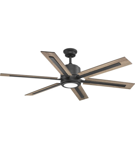 Progress P2586 7130K Glandon 60 Inch Gilded Iron With Toasted Oak/Driftwood  Blades Ceiling Fan