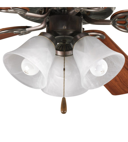 Progress Lighting AirPro 3 Light Fan Light Kit in Antique Bronze P2600-20 photo